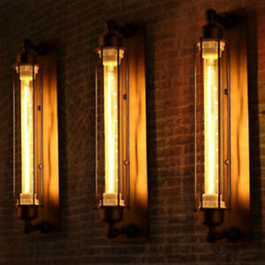 Black-Vintage-Industrial-Metal-Wall-Lamp-Sconce-Light-Fixture-Edison-Flute-Wall