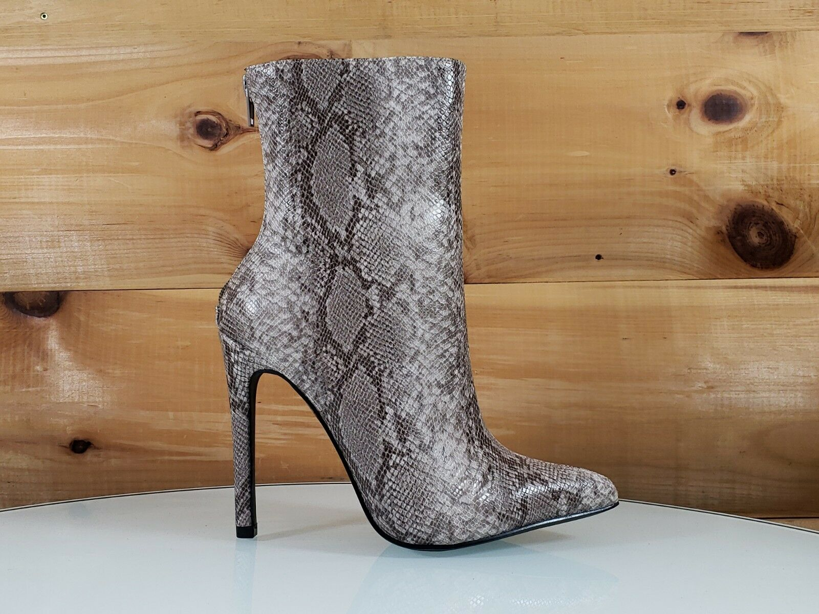 So Me Jerri SnakeTexturot Pointy Toe 5  High Heel Heel Heel Ankle Stiefel 6.5-11 874e1f