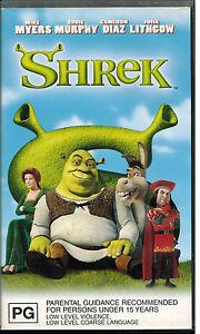 Shrek-VHS-Tapes-Video-Movies-Mike-Myers-Eddie-Murphy-John-Lithgow