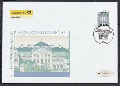2374 Residenzschloss Arolsen To Win A High Admiration And Is Widely Trusted At Home And Abroad. Brd 2004 Deutsche Post Fdc Minr