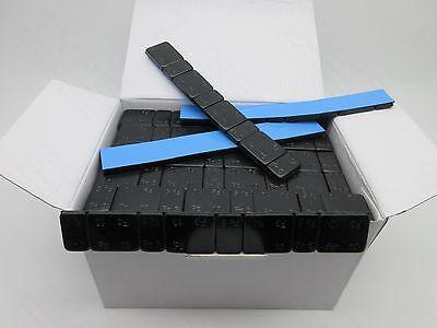5gx4+10gx4 100 x BLACK ADHESIVE ALLOY WHEEL BALANCE WEIGHTS