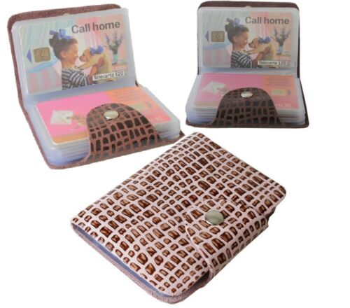 Étui Porte cartes pour 28 Cartes en cuir