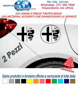 2-PZ-ADESIVO-ALFA-ROMEO-sticker-SERBATOIO-LOGO-AUTO-156-147-159-MITO-GIULIETTA