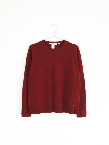 Cotton wool mix jumper burgundy M HOF115:H/&M logg Pullover dunkelrot boxy