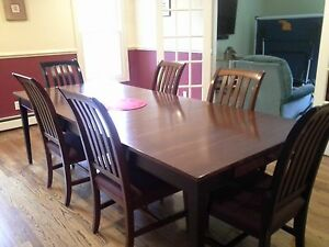 details about ethan allen cherry mission style dining room set