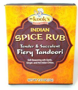 Mr-Kook-039-s-Indian-Spice-Rub-Fiery-Tandoori-Seasoning-One-1-23-Oz-Package-Flavor