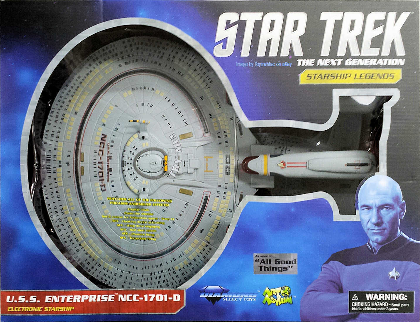 STAR TREK  ALL GOOD THINGS  FUTURE ENTERPRISE 1701 D ELECTRONIC STARSHIP DIAMOND