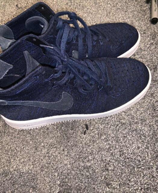 Nike Air Force 1 Ultra Flyknit Mid College Navy Uk 6 Bnib Mens Trainers AF1 8174