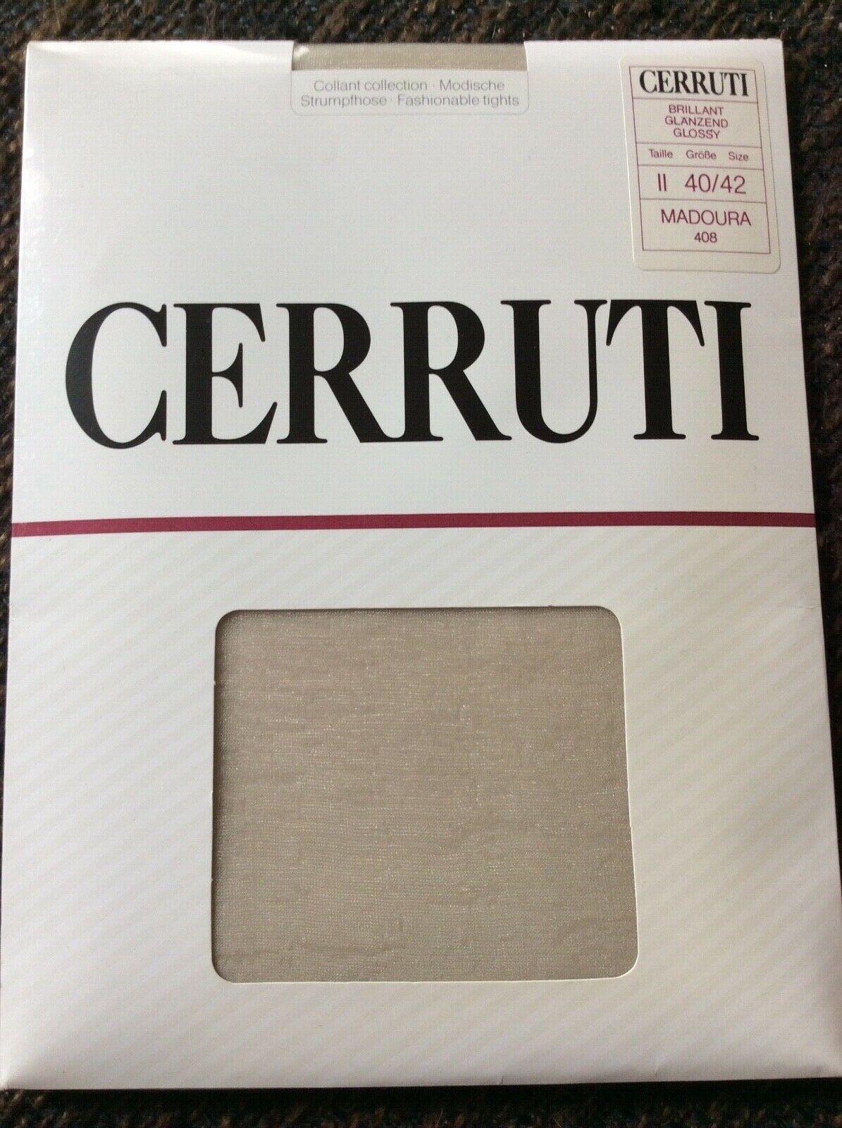 VINTAGE CERRUTI Classic Feinstrumpfhose RARITÄT Größe II Madoura 408 NEU & OVP
