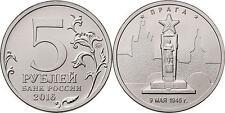 RUSSIA 5 Rublos RUSIA 2016 Ciudades Liberadas II Guerra Prague. 9.05.1945