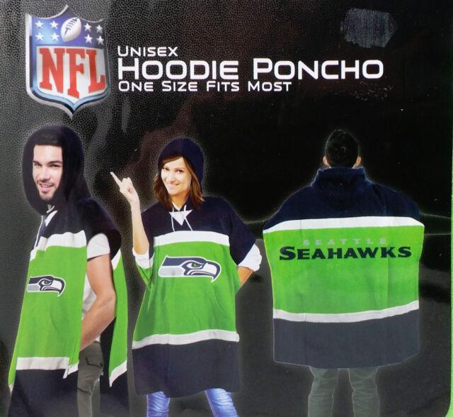 best service bfbd8 1a8ce NFL Seattle Seahawks Hoodie Poncho 70.5 X 32ih Lime Green Fan Shop Souvenir
