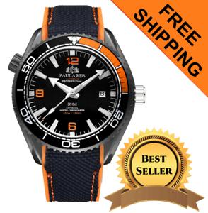 Herren-Swiss-Made-Seamaster-Hommage-Watch-Self-Wind-Automatic-mit-drehbarer-Luenette