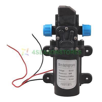 60W DC 12V Micro Diaphragm High Pressure Water Pump Automatic Switch 5L/min