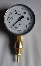 Gas-Abdrück-Manometer Kl.1,6 EN 837-3+Viega 1/2x3/8 Anschluß (D4)