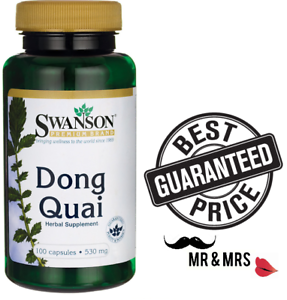 Details about Swanson Dong Quai , Menopause ,hormonal balance and  menstruation, 530 mg x 100 C