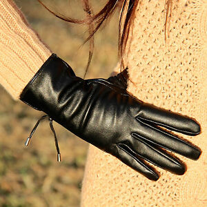 f0b8c7944 NEW! Elegant Women's Lambskin Leather Gloves with Metal Pendants on ...