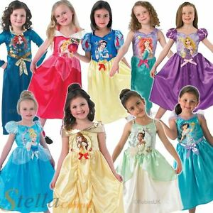 Image is loading Girls-Disney-Princess-Costumes-Official-Fancy-Dress-Book-  sc 1 st  eBay & Girls Disney Princess Costumes Official Fancy Dress Book Week Outfit ...