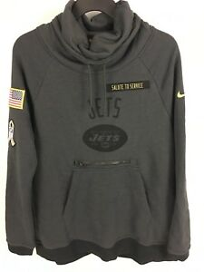 cheaper 41dc6 a3462 Details about Women's New York Jets SALUTE TO SERVICE Gray NIKE Pullover  Sweatshirt - Medium