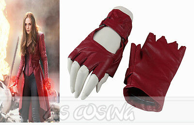 Movie Captain America Civil War Scarlet Witch Cosplay Gloves Halloween Costume