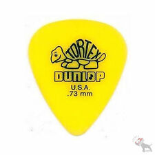 Jim Dunlop Guitar Tortex Picks .73 mm Yellow Picks 72 Pack Standard 418R73