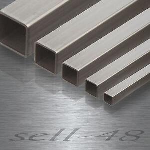 Tuyau-En-Acier-Inoxydable-coupe-a-l-039-usine-Rectangle-tuyau-profile-V2A-acier