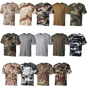 US Army Bundeswehr Bund T-Shirt Hemde Sweatshirt Halbarm Kurzarm 100% Baumwolle Kleidung & Accessoires