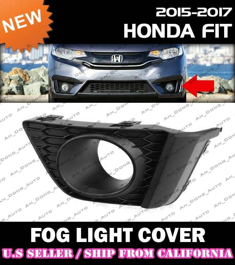 RH Front Bumpers Fog Lamp Light Lamps Frame Cover For Honda Fit 2015-2016