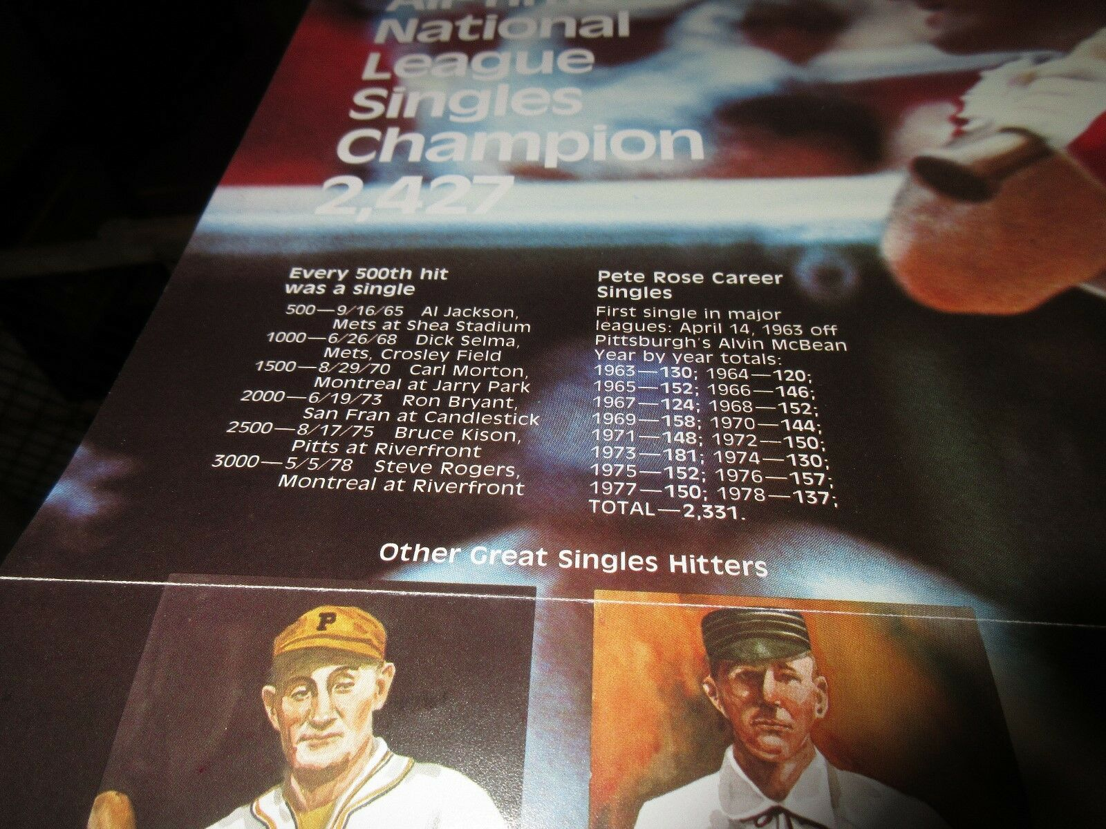 Pete Did It , POSTER , Pete Rose , All Time National Le