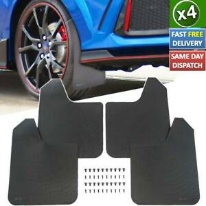 4x Schmutzfänger Universal Schwarz Für Anhänger Wohnwagen Pkw Spritzschutz Auto Ebay