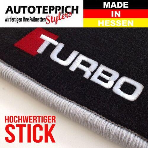 FUßMATTEN STICK //TURBO seitlich PASSEND FÜR AUDI 100 C4 4A 90-94