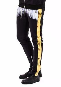 Hudson-outerwear-Men-039-s-Contemporary-Wing-Stripe-Techno-Side-Zipper-Track-Pants