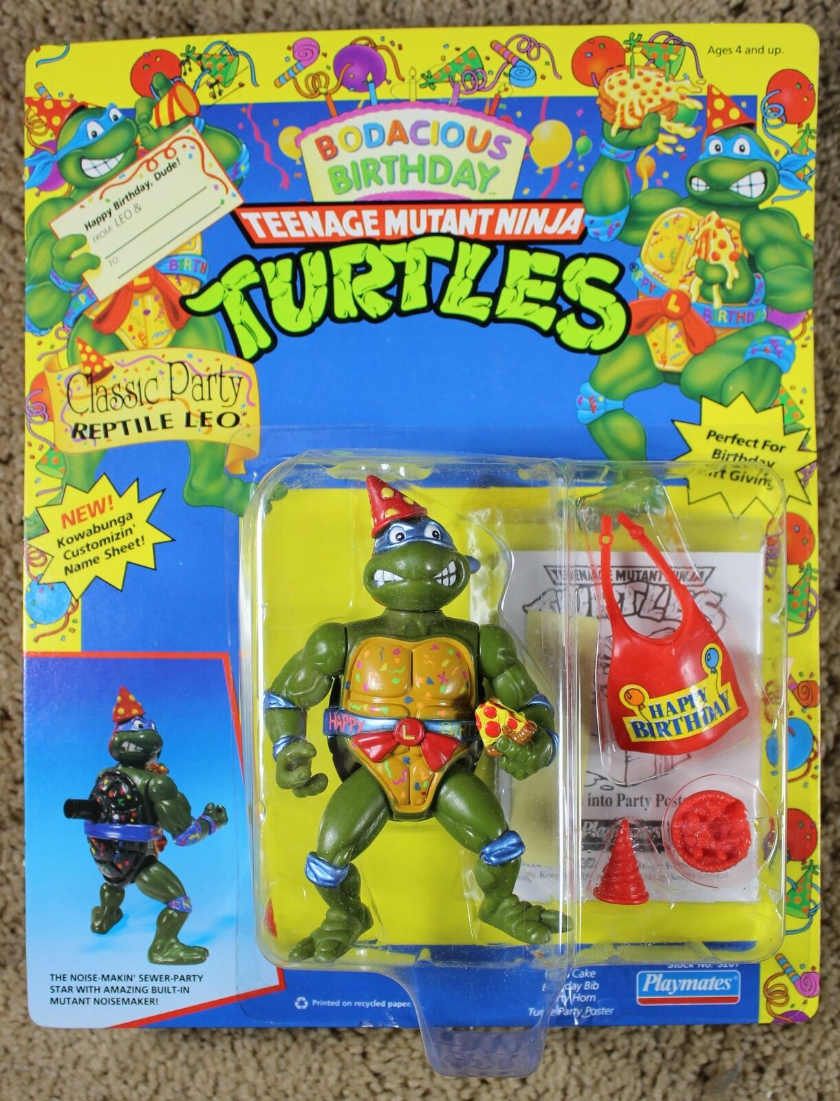 Teenage Mutant Ninja Turtles Feliz Cumpleaños Leo 1992 Jugarmates Figura De Acción