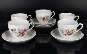 Arzberg Schumann Teeservice Kafeeservice 10tlg Rosendekor Gedeck weiss Blumen