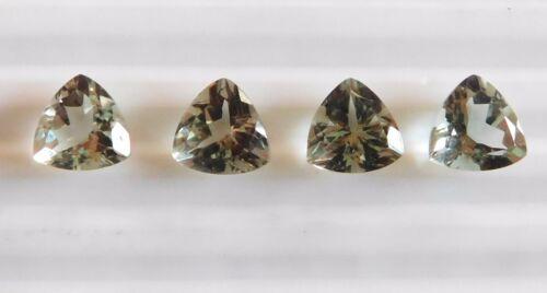 13 Cts 4Pc Natural Green Amethyst Trillion Cut Lot Loose Gemstone 10 MM B-163