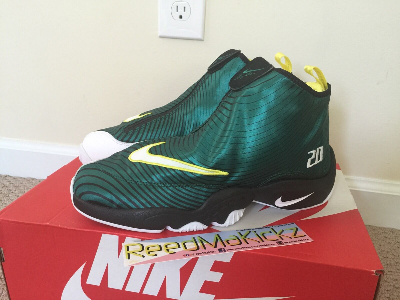 Nike Air Zoom Flight The Glove QS Sole Collector Gary Payton Mens size 10.5us