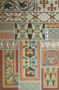 Style Renaissance Decoration Ornament Lithograph 19th Antiques