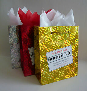 Image Is Loading MALE 50th Birthday SURVIVAL KIT Humorous Gift Idea