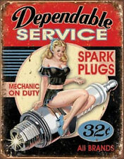 Dependable Service Vintage Style Metal Signs Man Cave Garage Decor 69