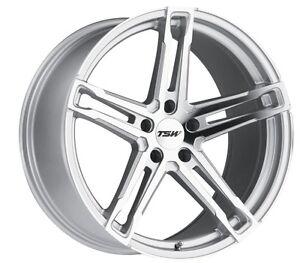 18x8-5-TSW-Mechanica-5x120-15-Silver-Rims-Fits-BMW-525-530-E34