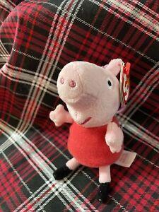 "MWMT TY BEANIE BABY 3"" KEY CLIP PEPPA PIG 2015 VHTF"