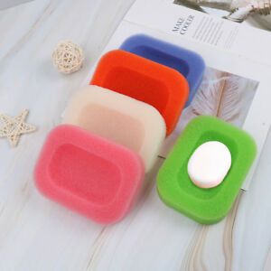 2xMesh-sponge-soap-dish-box-shower-hotel-holders-bathroom-kitchen-keep-clean-D