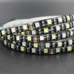 1m-5m-Waterproof-RGBW-RGB-5050-SMD-LED-Strip-Light-Flexible-black-PCB-Car-light