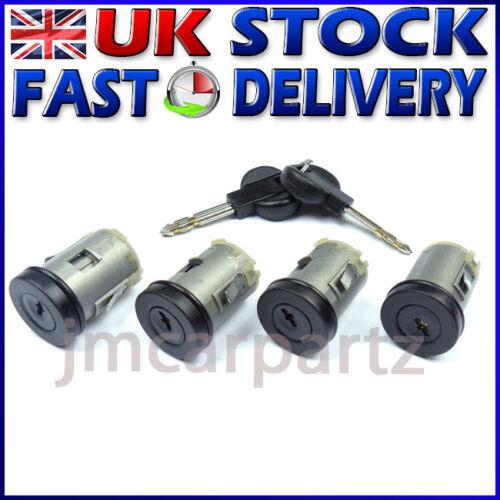 LANCIA ZETA Lock Set Door Barrel 4 Pcs FIAT SCUDO ULYSSE PEUGEOT 806 EXPERT