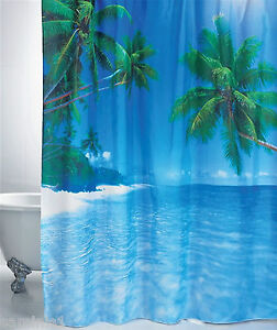 NEW-TROPICAL-SCENE-70-x78-LUXURY-SHOWER-CURTAIN-BRIGHTEN-UP-YOUR-BATHROOM