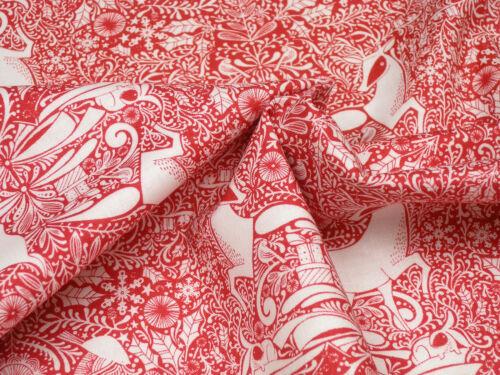 Christmas Blend Fabrics  I Love Christmas The Gathering Red Cotton 0.5m