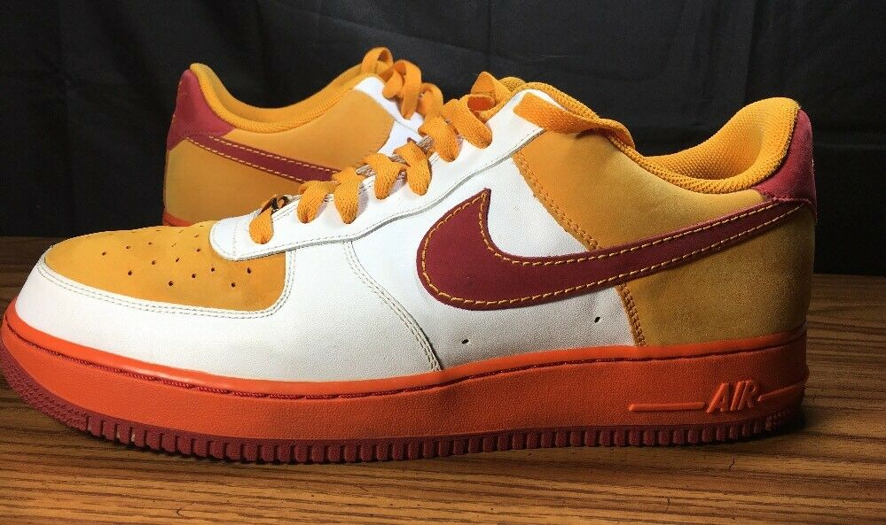 VTG NIKE air force 1 XXV 315122-161 ORANGE WHITE SNEAKERS SHOES Price reduction