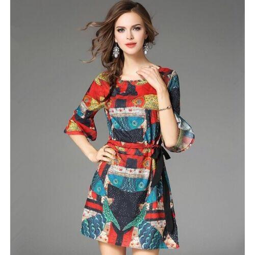 Robe Elégante Robe Douce Couleur Slim Courte Longues Manches 3900 g5qAdcqr