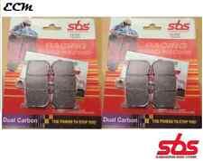 Triumph 675 Daytona 2008 Pair of Front Brake Pads SBS Dual Carbon 782DC