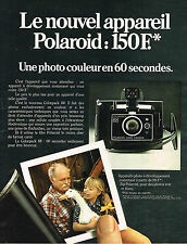PUBLICITE ADVERTISING 084  1974  POLAROID   appareil photo ZIP