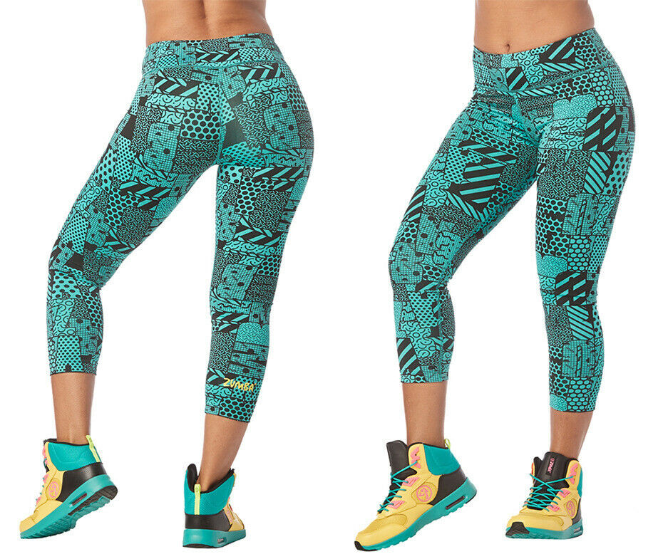 Zumba Happiness Crop Leggings - Teal Me Everything - XS, Small, Med, Lg, XL, XXL
